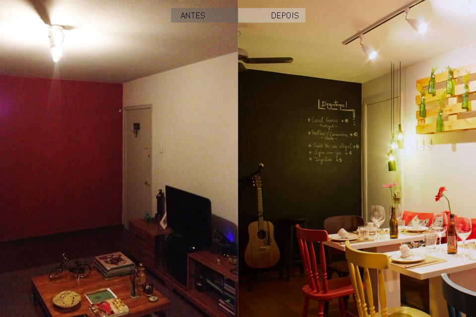 O Mundo Lá de Casa - Antes e Depois